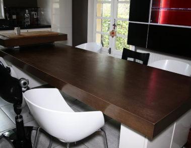 Réalisation de table îlot - mobilier design