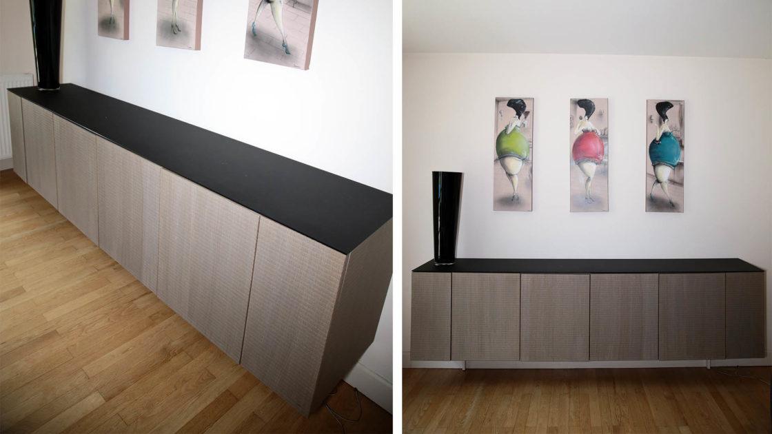 Réalisation de vaisselier - mobilier design